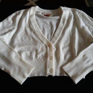 Fevour Mod Cloth Cream Crop Sweater Size Small